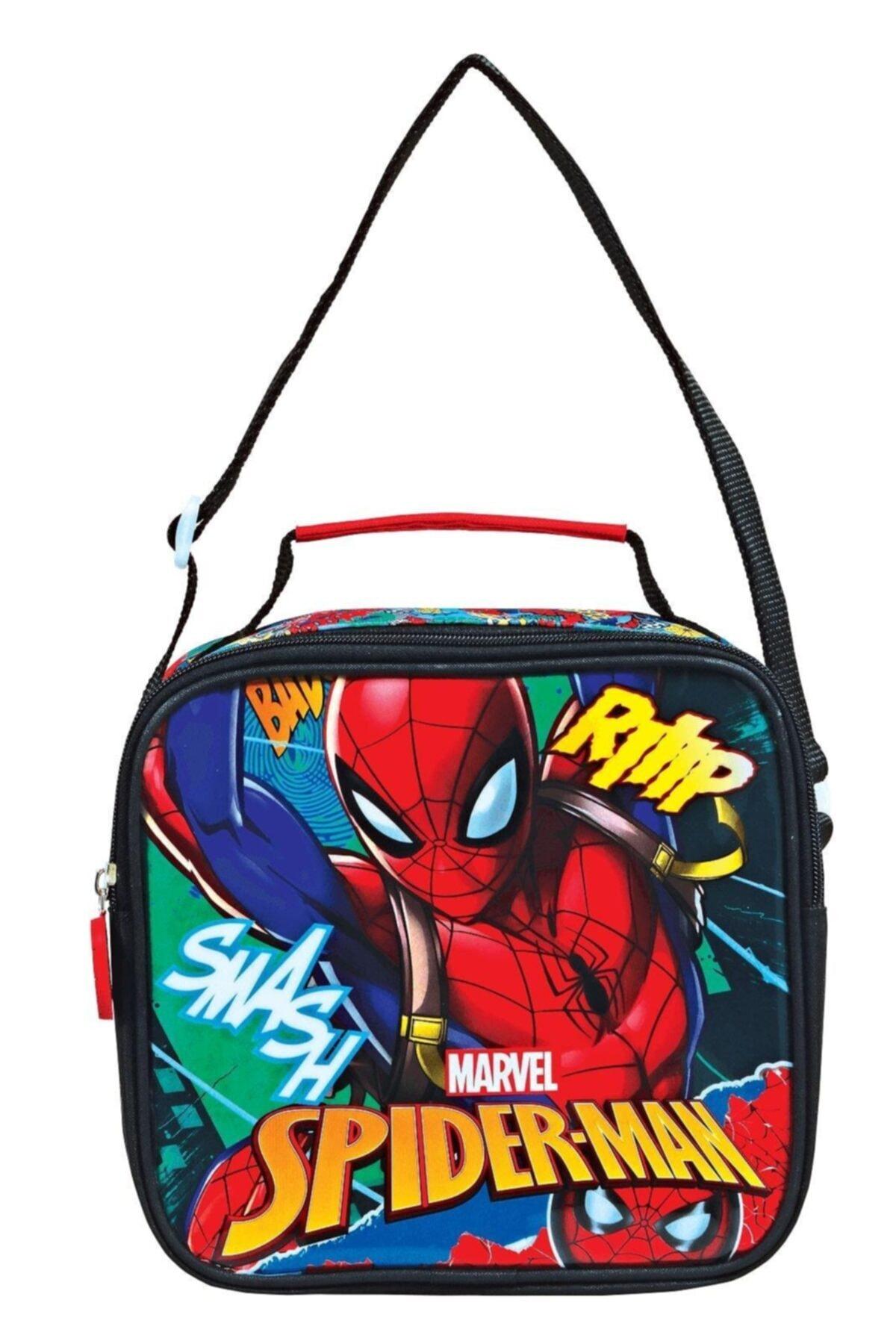 Kırmızı Echo Graffıtı Spiderman Beslenme Çantası