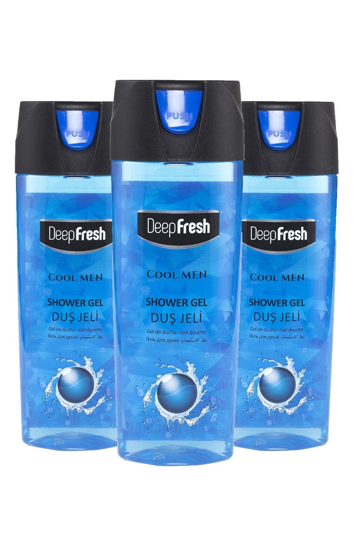 Pratik Kapaklı Erkek Duş Jeli Cool Men 3 X 500 ml