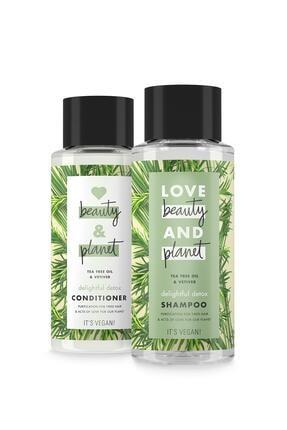 Love Beauty and Planet Çay Ağacı Yağı Ve Vetiver Özlü Şampuan 400 Ml + Saç Kremi 400 Ml 0
