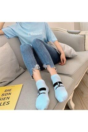 BGK Unisex Renkli Yüz Desenli Patik Çorap 10'lu 3