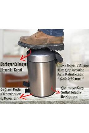Cekinox Inox Pedallı Çöp Kovası Paslanmaz 3 Litre 4