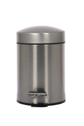 Cekinox Inox Pedallı Çöp Kovası Paslanmaz 5 Litre 0