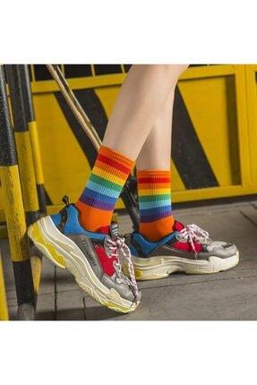 BGK 5'li Unisex Renkli Kolej Çorap (Antibakteriyel Extra Soft) 1