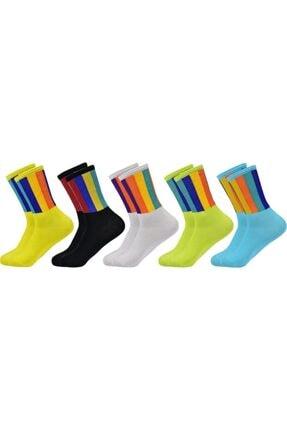 BGK 5'li Unisex Renkli Kolej Çorap (Antibakteriyel Extra Soft) 2