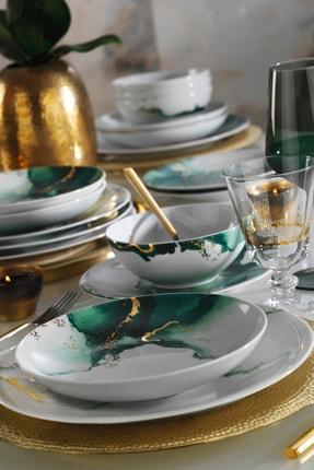 Kütahya Porselen Altın Varaklı 24 Parça Dekor Yemek Takımı 2