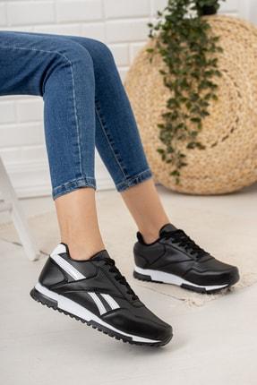 Moda Değirmeni Kadın Siyah Beyaz Sneaker Md1053-101-0001 0