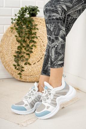 Moda Değirmeni Kadın Gri Mavi Sneaker Md1054-101-0001 1