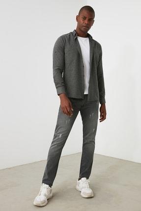 TRENDYOL MAN Gri Erkek Skinny Jeans TMNAW21JE0818 0