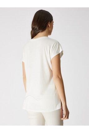 Vekem Kadın Kırık Beyaz Sıfır Yaka Japone Kol Bluz 9107-0071 1
