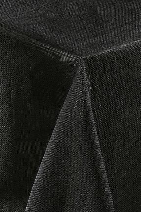 Nazik Home Linen Keten Kumaş Siyah Renk 0