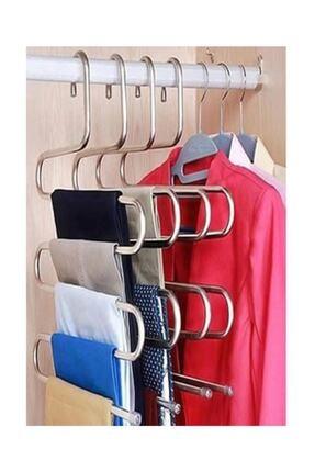 Vip Home Concept 5 Katlı Pantolon Eşarp Fular Askısı 5'li Dolap Askısı 1  Adet 0