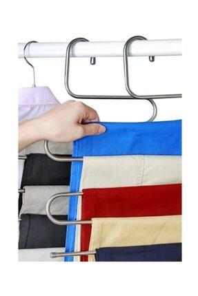 Vip Home Concept 5 Katlı Pantolon Eşarp Fular Askısı 5'li Dolap Askısı 1  Adet 2