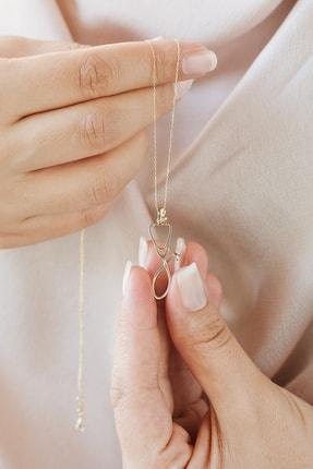 Gelin Pırlanta Kadın Altın Gelin Diamond 14 Ayar Pırlantalı Steteskop Kolye 3