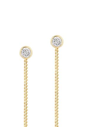 Gelin Pırlanta Kadın Altın Gelin Diamond 14 Ayar Tek Taşlı Sallantılı Küpe 0