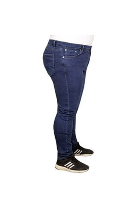 Modexl Büyük Beden Erkek Pantolon Kot 20900 Mavi 2