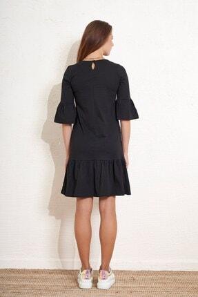 Eka Kadın Eteği ve Kolları Volanlı Salaş Elbise 4