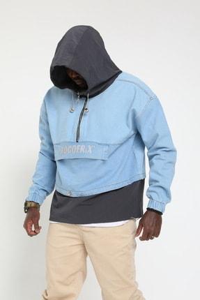 Rocqerx Erkek Gri Kot Sweatshirt 0