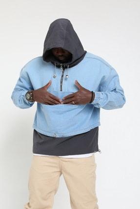 Rocqerx Erkek Gri Kot Sweatshirt 1