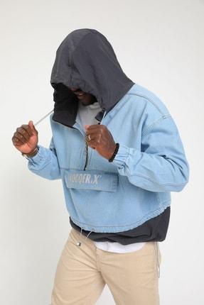 Rocqerx Erkek Gri Kot Sweatshirt 4