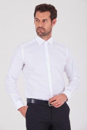Hatemoğlu Slim Fit Beyaz Gömlek 3