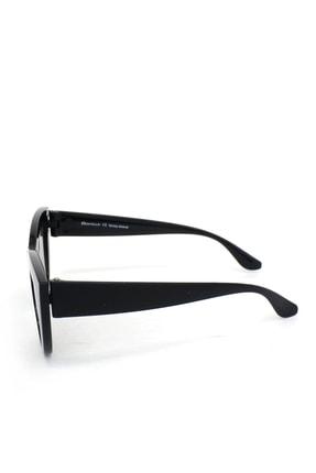 Hane14 Kalın Çerçeveli Tasarım Aynalı Camlı Cat Eye Bayan Güneş Gözlüğü Siyah 3
