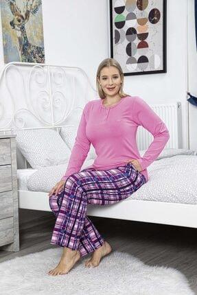 Aydoğan Kadın Pembe Modal Battal Boy Pijama Takımı 0