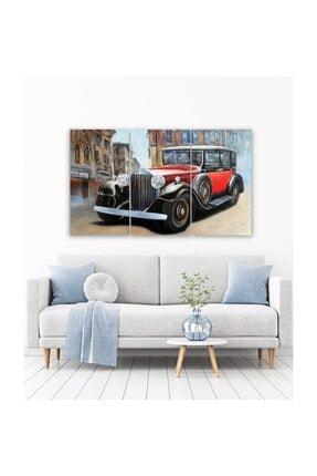 Pi Dekorasyon Klasik Araba 3 Parça Mdf Tablo 2 0