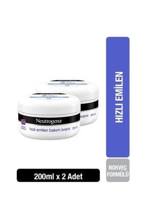 Neutrogena Norveç Formülü Hızlı Emilen Bakım Kremi - 200 ml  x 2 0