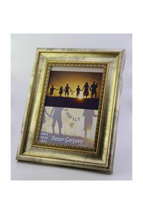 Sezer Çerçeve 15x21 cm Eskitme Gümüş Desenli Dekoratif Fotoğraf Resim Çerçevesi 0