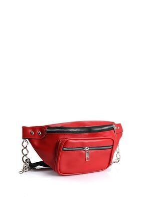 Chicago Polo Kırmızı Kadın Bel Çantası 0