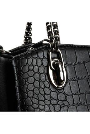 BRS BAGS Omuz Ve El Çantası Siyah Krokodil 2