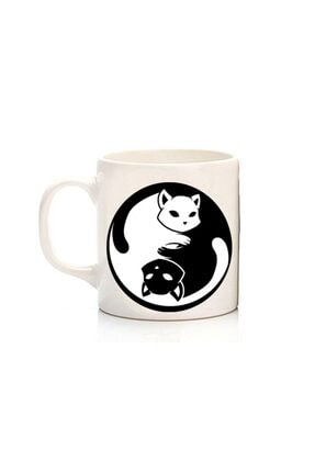 Köstebek Ying Yang Cat Kupa 0