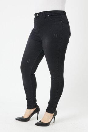 VAV Kadın Büyük Beden Dar Paça Kot Pantolon 2