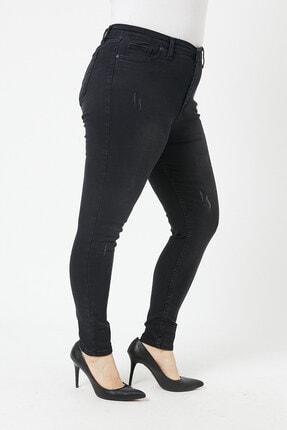 VAV Kadın Büyük Beden Dar Paça Kot Pantolon 3