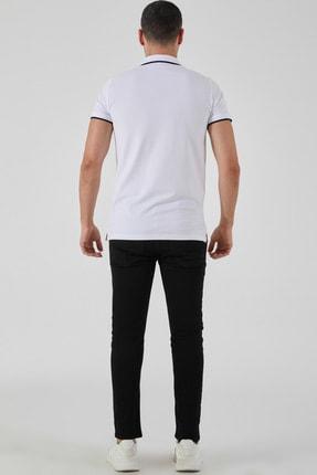 Ltb Erkek  Beyaz Polo Yaka T-Shirt 0122084075609440000 3