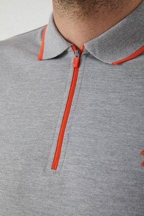 Ltb Erkek  Gri Polo Yaka T-Shirt 0122084075609440000 1