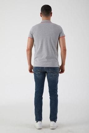 Ltb Erkek  Gri Polo Yaka T-Shirt 0122084075609440000 3