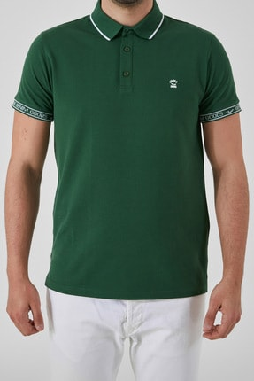Ltb Erkek  Yeşil Polo Yaka T-Shirt 012208408060890000 0