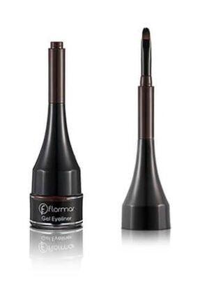 Flormar Kahverengi Jel Eyeliner - Gel Eyeliner 003 Bole Brown 8690604591893 0