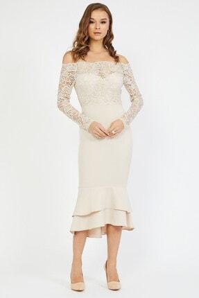 Shine İstanbul Dantel Detay Etek Volanlı Elbise 1