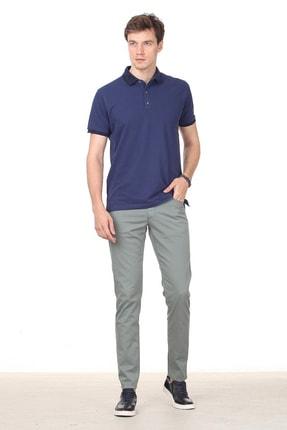 Ramsey Açık Lacivert Düz Örme T - Shirt RP10113808 2