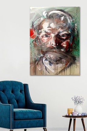 Hediyeler Kapında 70x100 Profil Sanatsal Duvar Kanvas Tablo 0