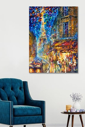 Hediyeler Kapında 90x130 Sokak Sanatsal Duvar Kanvas Tablo 0