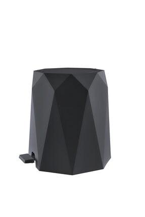 Elif Geo 2'li Banyo Seti (plastik 5 Lt Çöp Kovası Ve Tuvalet Fırçası-antrasit) 0