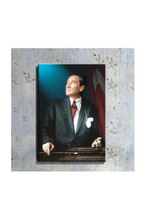 DECOBRITISH Atatürk Ve Türk Bayrağı Portre 50 Cm X 70 Cm Kanvas Tablo Tbl1199 0