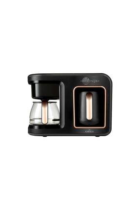 Karaca Hatır Plus 2 in 1 Black Copper Kahve Makinesi 0