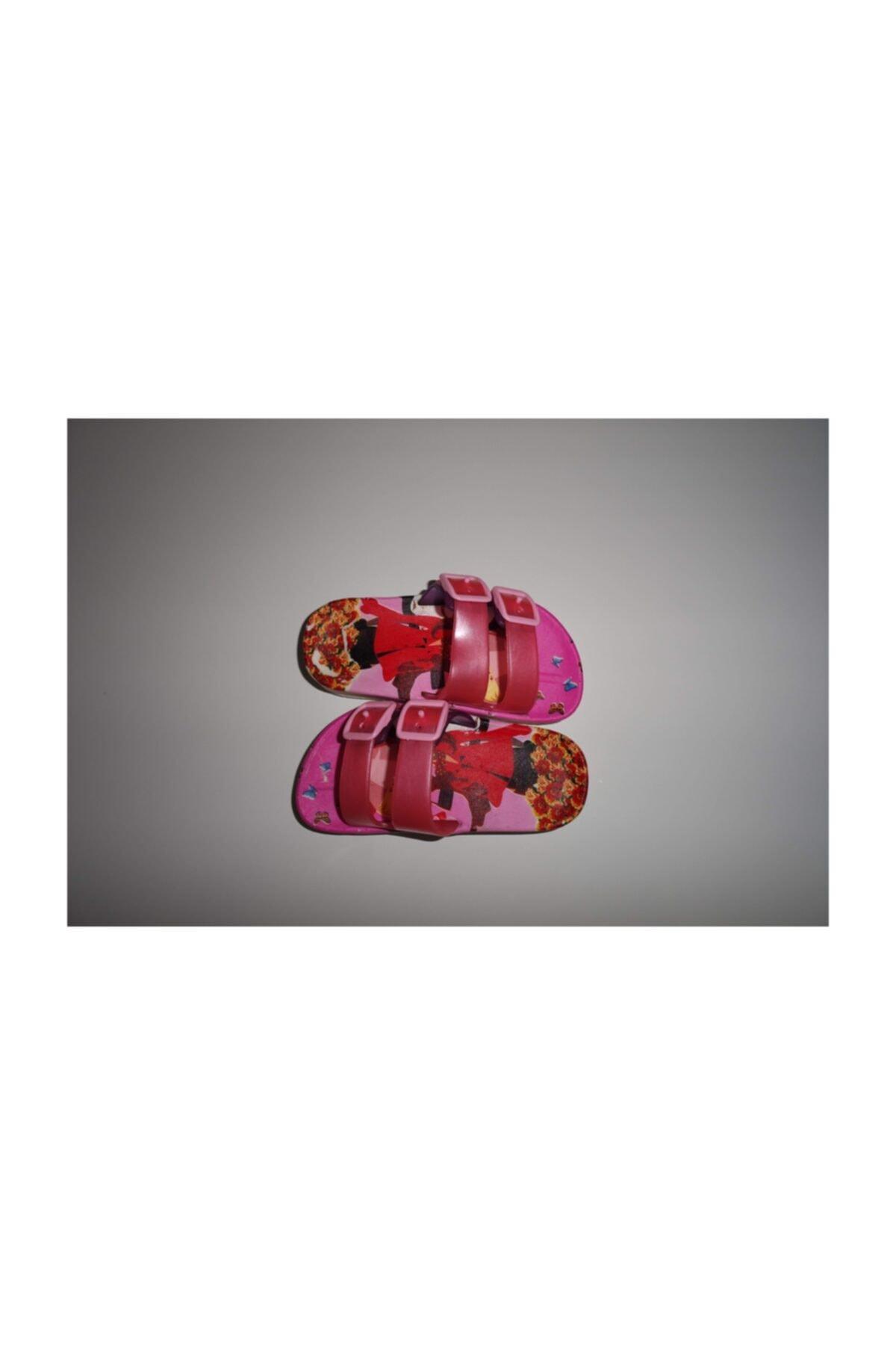Kız Desen Pembe Kırmızı Çocuk Kız Terliği