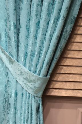 Brillant Mavi Hazır Pileli Fon Panama Kanat Perde 80x270 cm 1