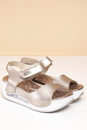 Pierre Cardin Pc-1406 Platin Kadın Sandalet 0