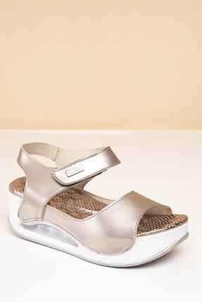 Pierre Cardin Pc-1406 Platin Kadın Sandalet 1